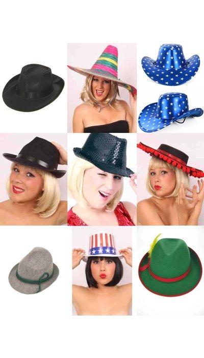 Carnavalshoeden voor dames kopen