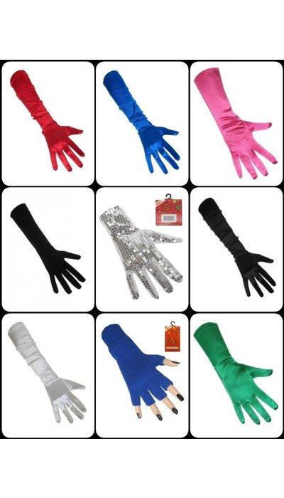 Gekleurde lange handschoenen kopen