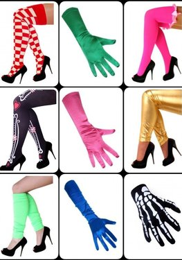 ✔ Beenmode en Handschoenen voor carnaval