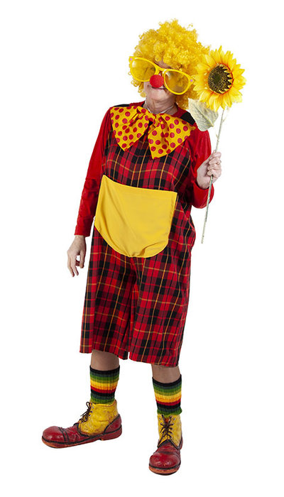 Grappig clown kostuum