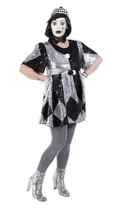 Vrouwelijk Pierrot kostuum