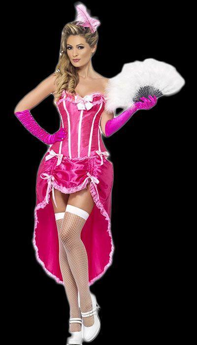 Roze burlesque jurk huren - 249