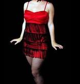 Rood burlesque jurkje huren