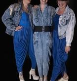 Blauwe jaren 80 kostuums