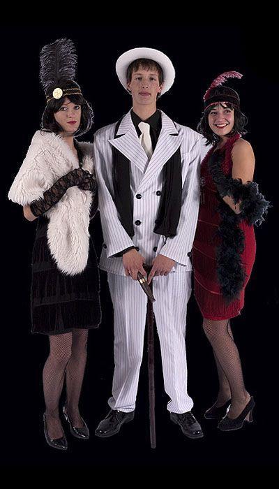 Witte Gangster outfit huren - 316