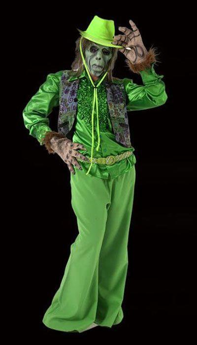 Groene griezel kostuum