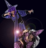 Paars heksen kostuum huren