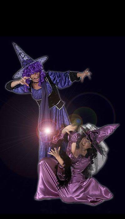 Paars heksen kostuum huren - 332
