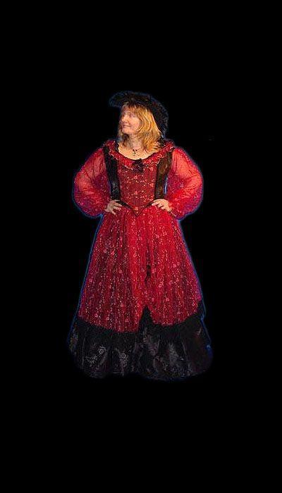 Rode historische jurk huren