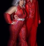 Rode disco kostuums