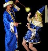 Blauw tovenaars kostuum huren