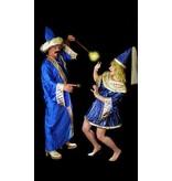 Blauw tovenaars kostuum huren - 448