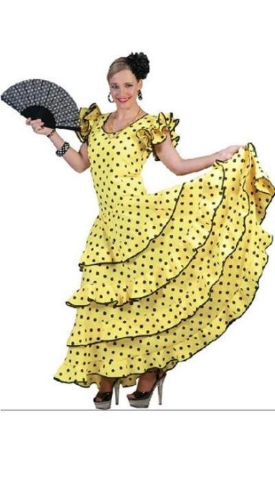 Spaanse flamenco jurk huren