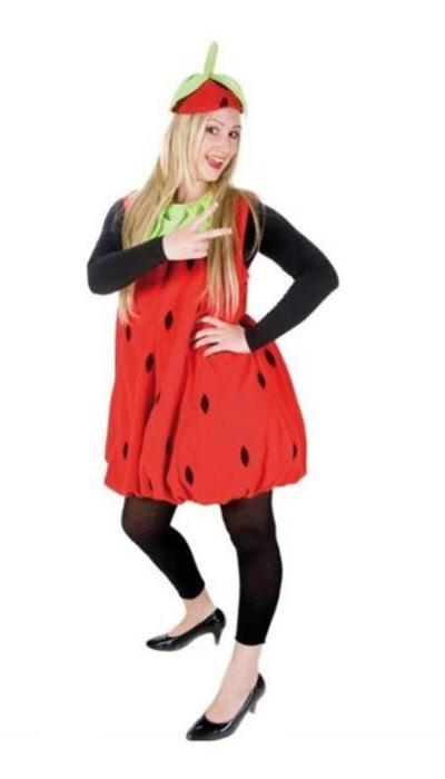Aardbeien kostuum - op