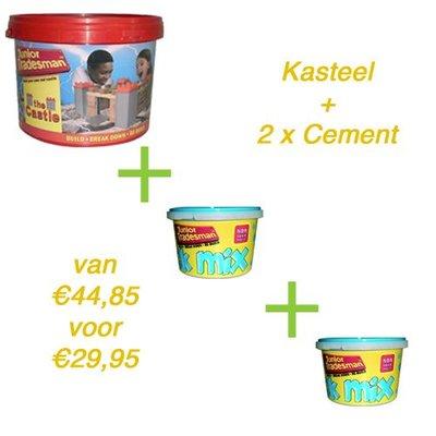Brickadoo Metsel bouwdoos Kasteel + 2x cement