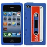 Iphone 4 (S) cassetteband hoes blauw