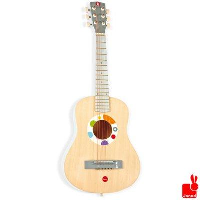 Janod confetti-gitaar-groot-naturel