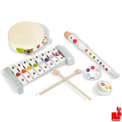 Janod confetti-muziekinstrumenten-set