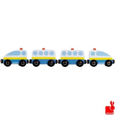 Janod Story trein brandweer magnetisch