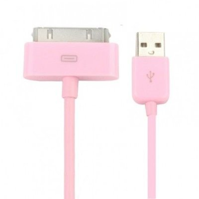 roze-kabel-en-lader-voor-iphone-4-s
