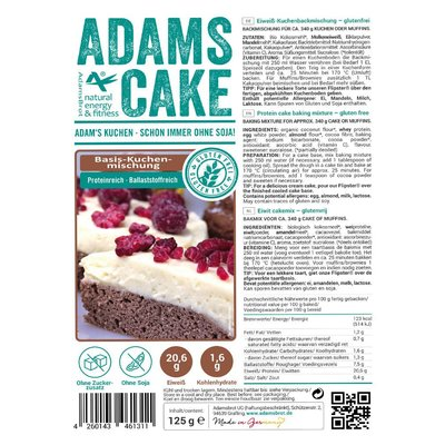Adam's - Cake Basis Bakmix (125 gr)