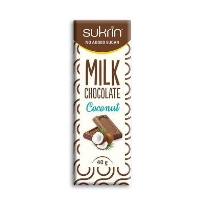 Sukrin - Suikervrije melkchocolade met kokos (40 gr)