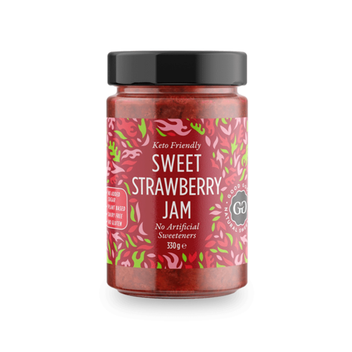 Good Good - Sweet Jam Strawberry met Stevia (330 gr)