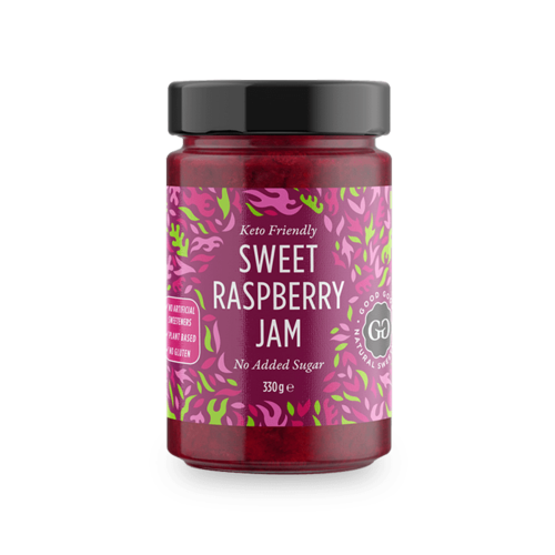Good Good - Sweet Raspberry Jam met Stevia (330 gr)