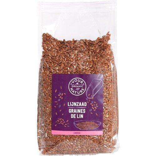 Your Organic Nature - Lijnzaad heel (400 gr)