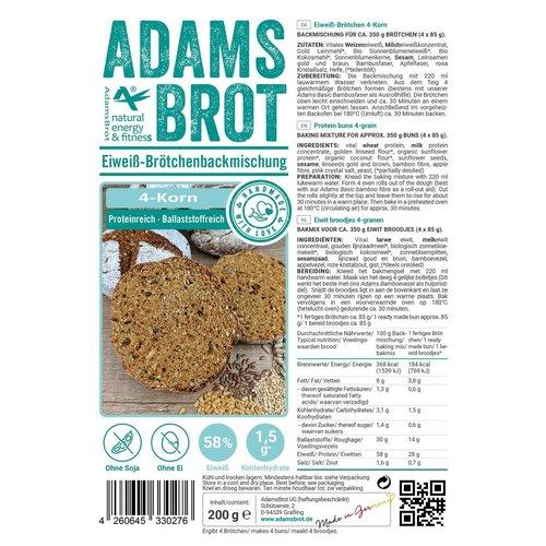 Adam's - Brot Brötchen 4-Korn broodmix (200 gr)