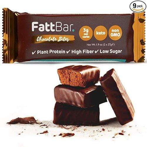 Fattbar - Dark Chocolate Bites (2x27 gr)