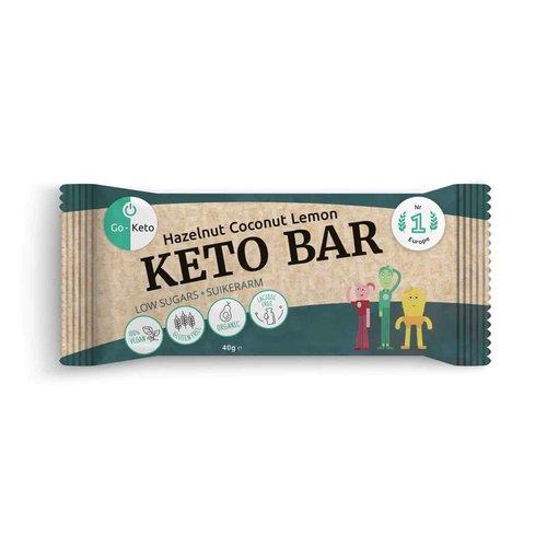Go-Keto - Keto Bar Hazelnoot Kokos Citroen (40 gr)