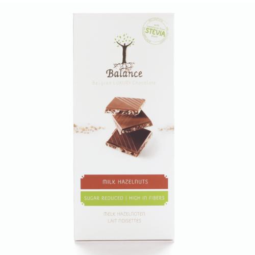 Balance - Luxury chocolate melk hazelnoot stevia (85 gr)