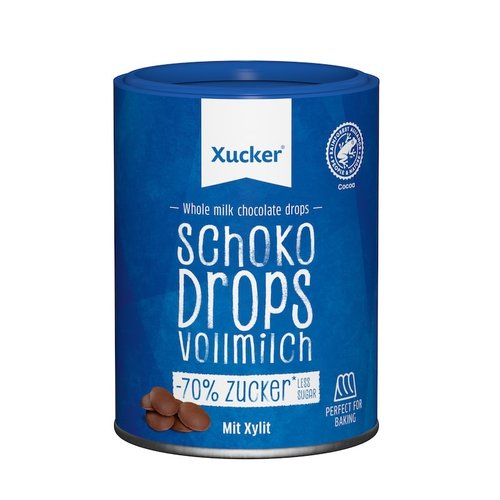 Xucker - Chocolade Druppels Melk (200 gr)