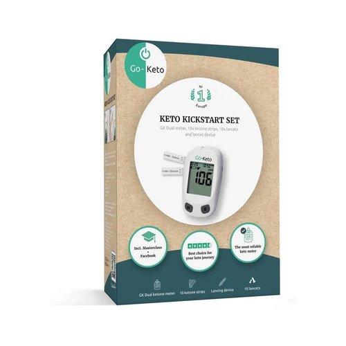 Go-Keto - Ketonen Glucose Meter Kickstart Set (incl. 10 ketonen strips)