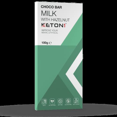 Keton1 - Keto Choco Bar Melk Hazelnoot (100 gr)
