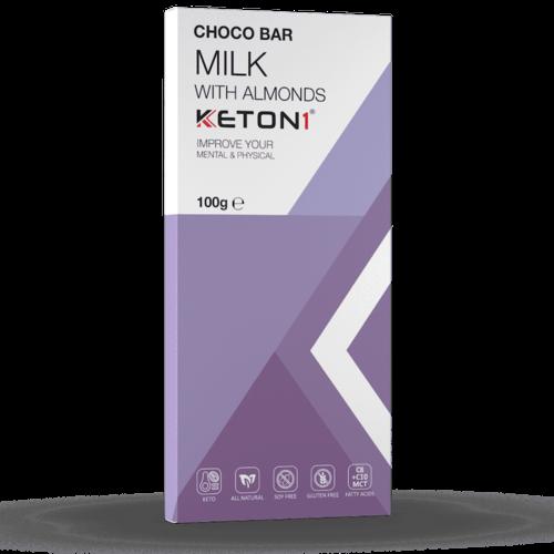 Keton1 - Keto Choco Bar Melk Amandel (100 gr)