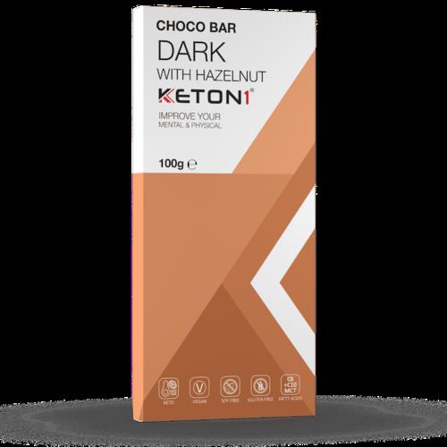 Keton1 - Keto Choco Bar Puur Hazelnoot (100 gr)