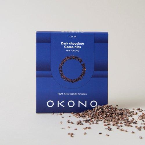 OKONO - Keto Dark Chocolate Cacao Nibs (50 gr)