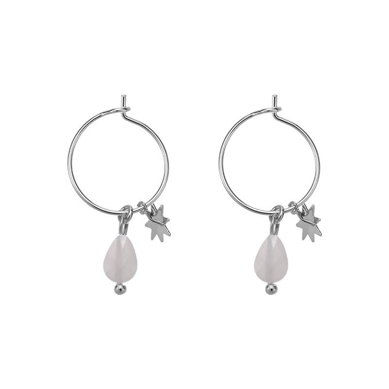 FANCY EARRINGS - GREY