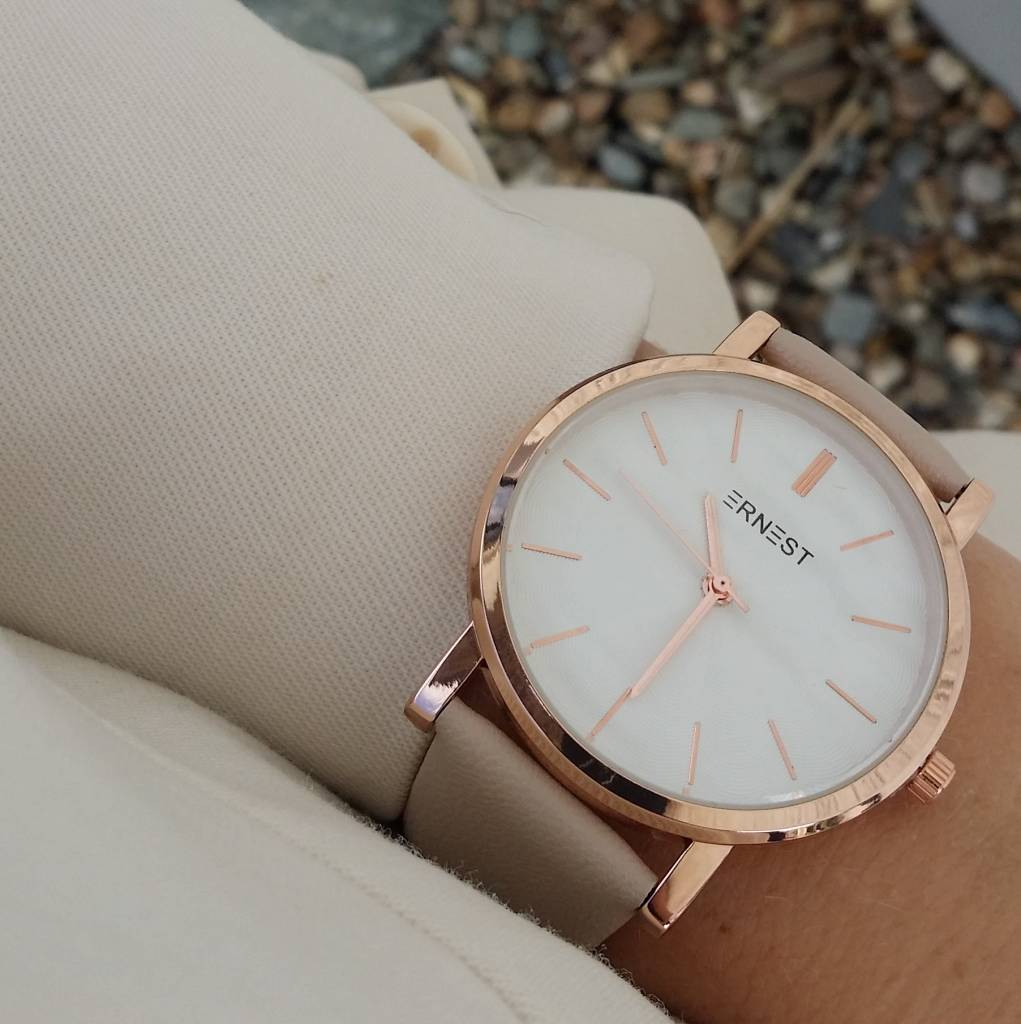 WATCH ME - BEIGE/ROSE GOLD