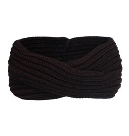 TWISTED HEADBAND - DARK BROWN
