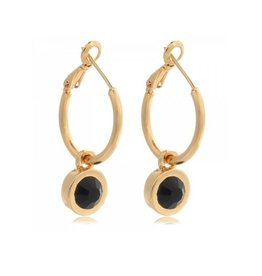 LA CHIC EARRINGS - GOLD/BLACK