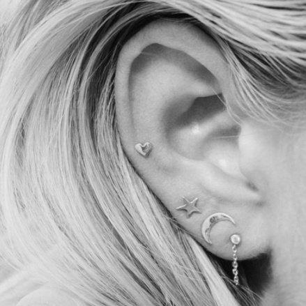 3 SET EARSTUDS - SILVER