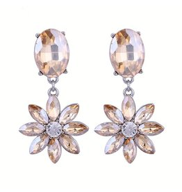 CRYSTAL FLOWER DROPS - ROSE