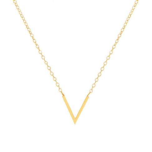 V SHAPE NECKLACE - GOLD