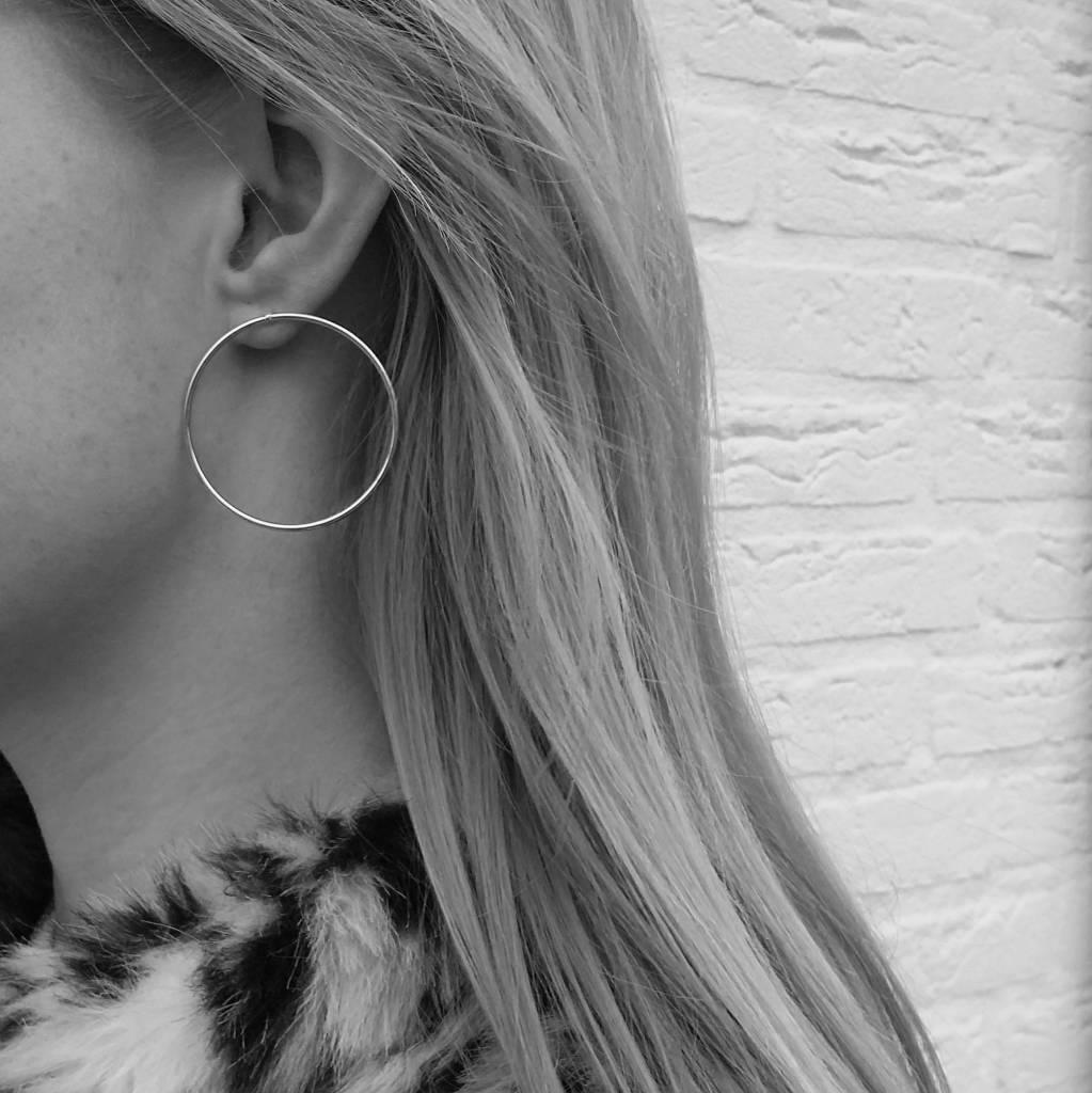 EAR HOOPS - SILVER