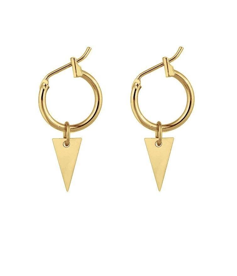 TRIANGLE HOOPS - GOLD