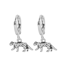 LEOPARD EARRINGS - SILVER