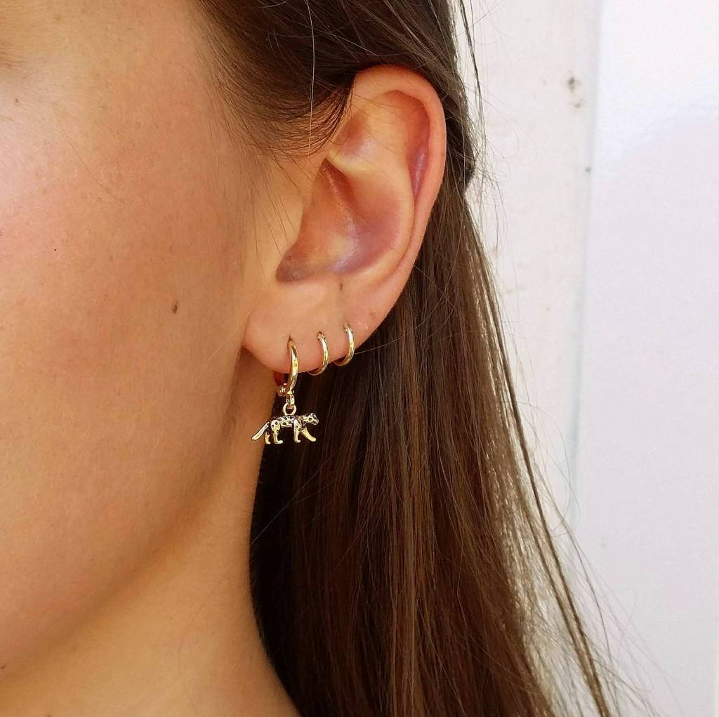 LEOPARD EARRINGS - GOLD